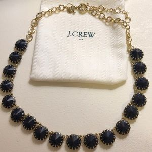 J. Crew Navy and Gold Necklace